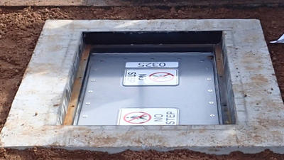 sewer access chamber protection system