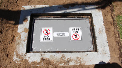 sewer access chamber protection system 1