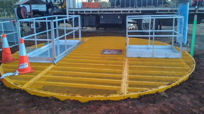 Install steel mesh safety cover